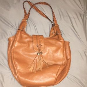 brown leather gucci bag!